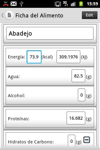 Dietas y Nutricion- screenshot