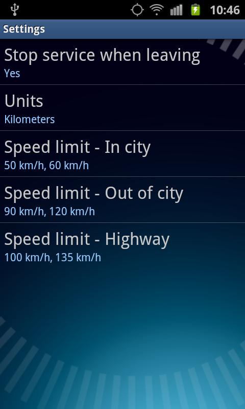Speed Control App - screenshot