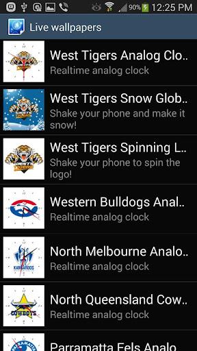 玩免費運動APP|下載West Tigers Analog Clock app不用錢|硬是要APP