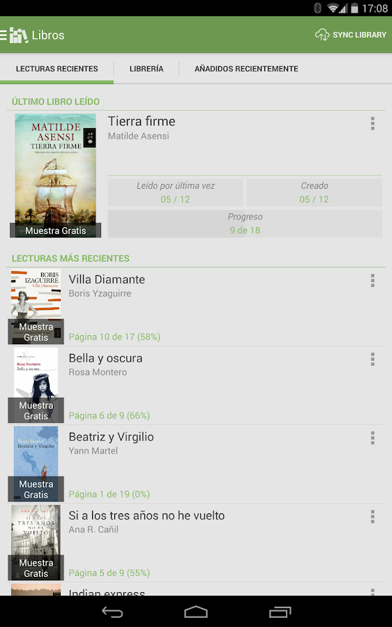 Aldiko Book Reader: captura de pantalla
