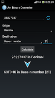 Screenshot of Advanced Binary Converter