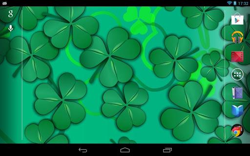Lucky Shamrocks Live Wallpaper