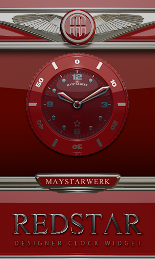 Clock Widget Red Star