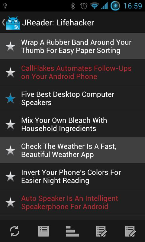 JReader (Google Reader | RSS) - screenshot