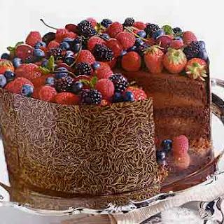 Triple-Chocolate Celebration Cake.