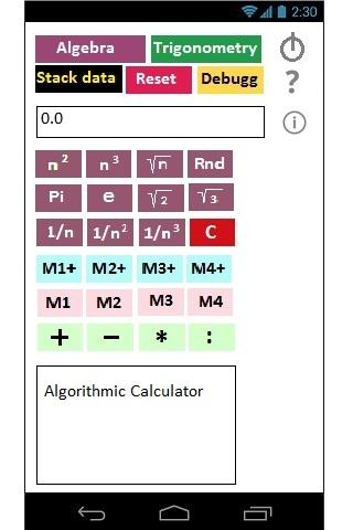 Algorithmic Calculator
