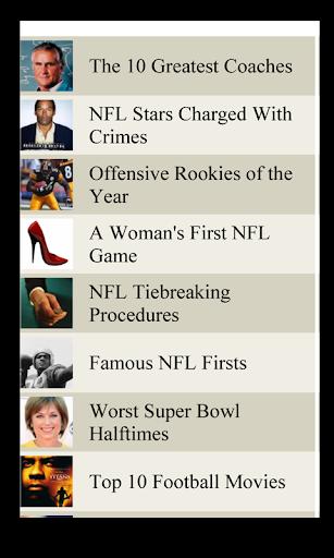 Football Lists NFL
