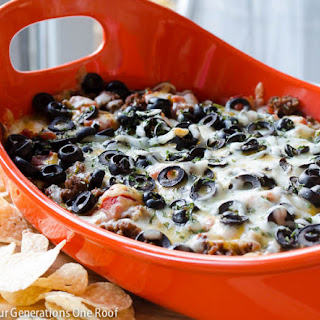 Quick 7 Layer Hot Cheese Dip