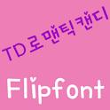 TDRomanticCandy KoreanFlipFont logo