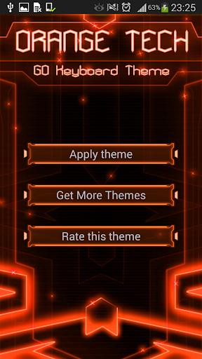 GO Keyboard Orange Tech Theme