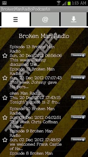 Broken Man Radio Podcasts