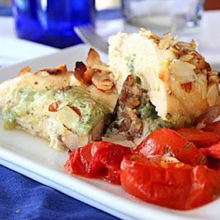 Cheesy Sausage and Basil Stuffed Chicken Breasts (Low Carb and Gluten Free)