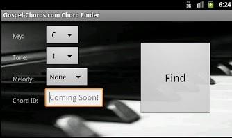 Screenshot of Gospel-Chords.com Chord Finder
