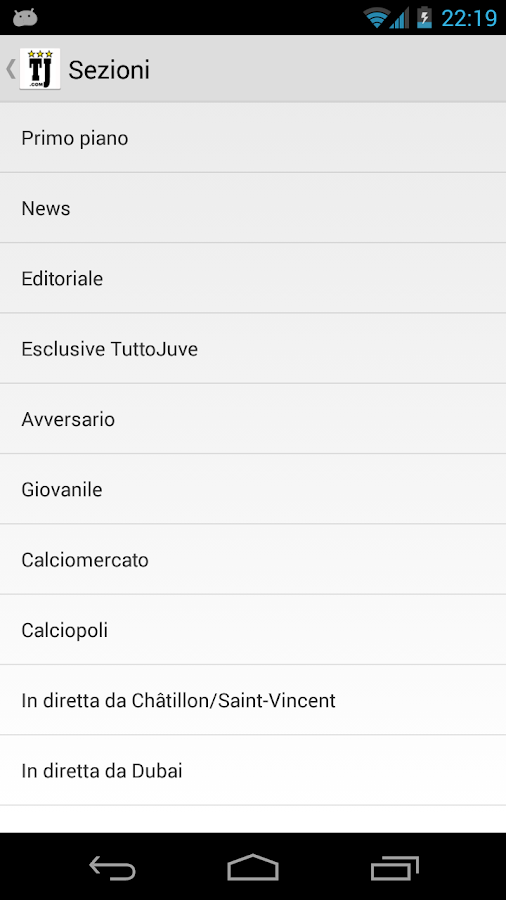 TuttoJuve - screenshot