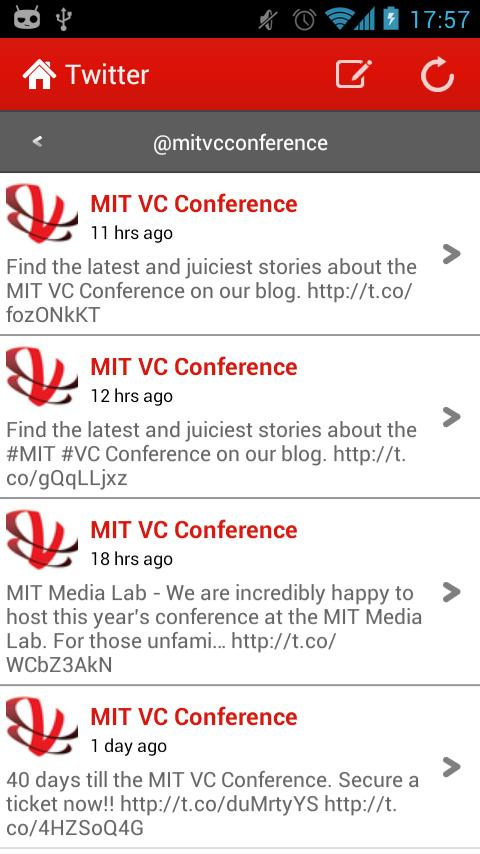 MIT VC Conference 2012 - screenshot