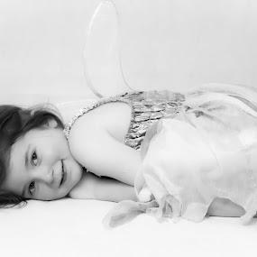 Angel by Steve Trigger - Black & White Portraits & People (  )