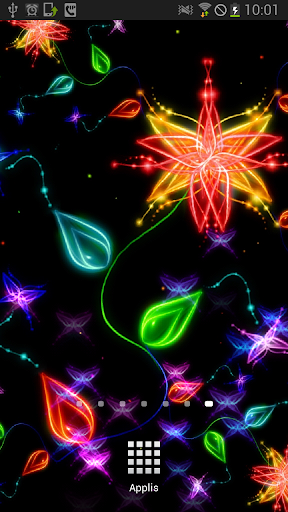Butterflies Neon Animated LWP