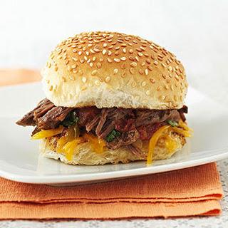 Southwestern Shredded Beef Sandwiches.