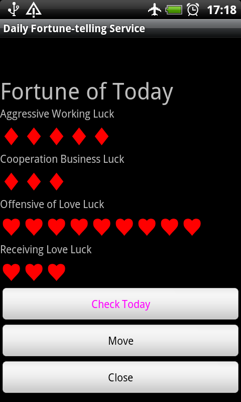 Daily Fortune-telling Service- screenshot