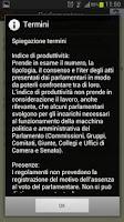 Screenshot of Parlamento Italiano