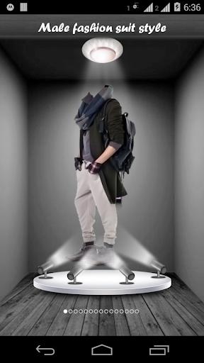 Male fashion suit style