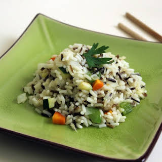 Wild rice with Zucchini and Carrot.