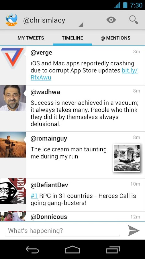 Tweet Lanes - screenshot