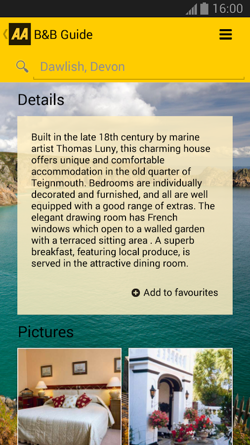 2014 AA Bed & Breakfast Guide - screenshot