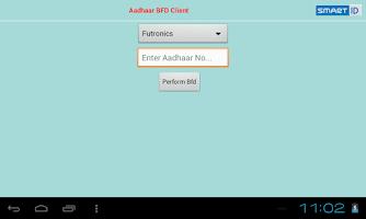 Screenshot of Aadhaar BFD Client