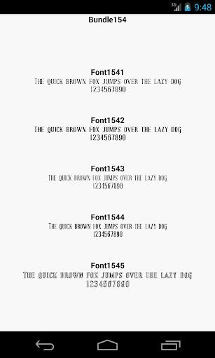 Fonts for FlipFont 154