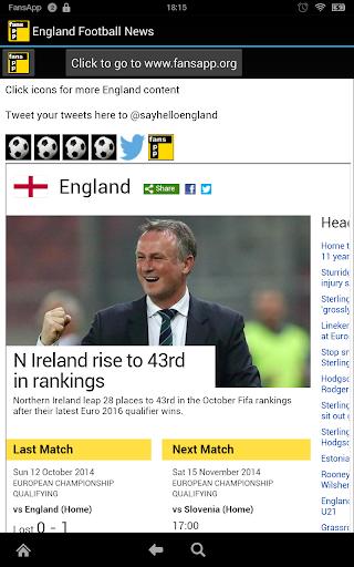 England Football News FansApp