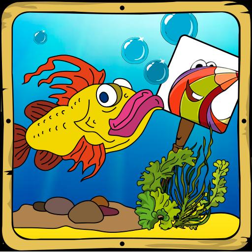 着色ゲーム:魚 休閒 App LOGO-硬是要APP