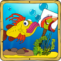 Baby coloring apps: the fishes icon