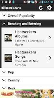 Screenshot of Hot Billboard