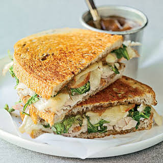 Toasted Turkey, Brie, and Apple Sandwiches.