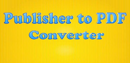 how to convert publisher to pdf