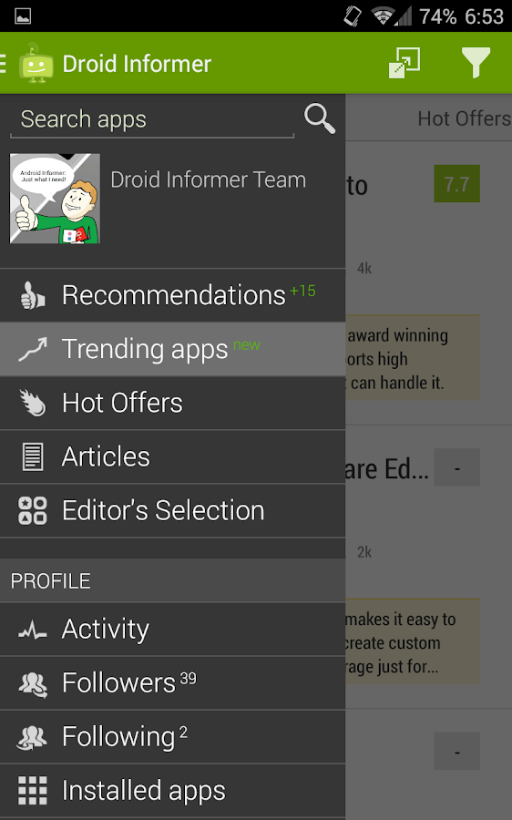 Droid Informer - screenshot