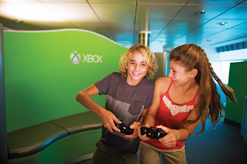 Your kids will keep occupied in Celebrity Reflection's XBox room.