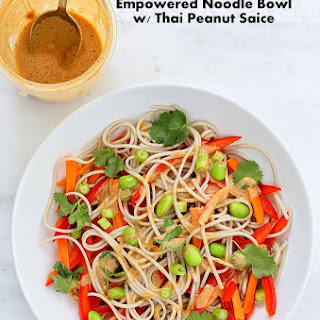 Empowered Noodle Bowl with Thai Peanut Sauce