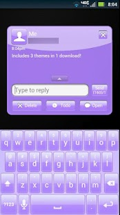 GO SMS Purple Theme- screenshot thumbnail