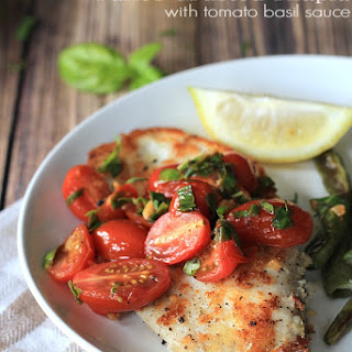 Panko Crusted Tilapia with Fresh Tomato Basil Sauce + Giveaway