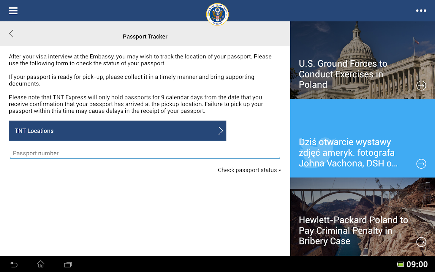US Embassy Poland Mobile Android Apps On Google Play - Us embassy location map