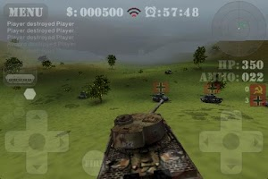 Screenshot of Tank Fury 3D