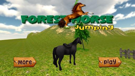 숲 말 점프