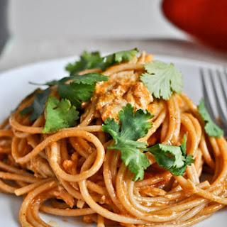 Chicken Enchilada Spaghetti.