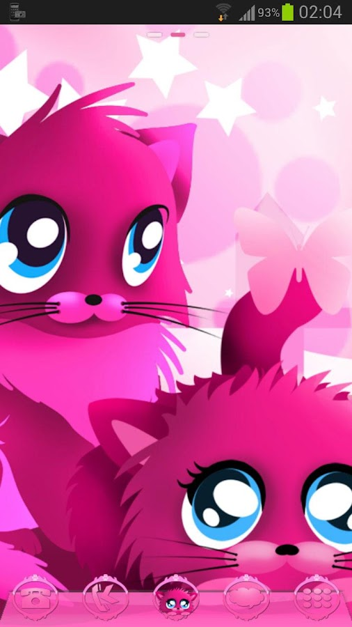 Pink cats theme 4 Go Launcher- screenshot