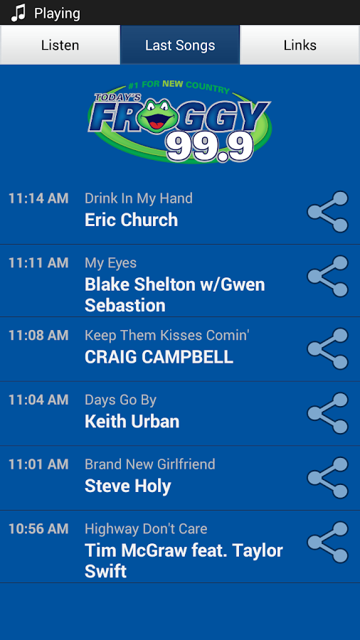 Today's Froggy 99.9 - KVOX-FM - screenshot