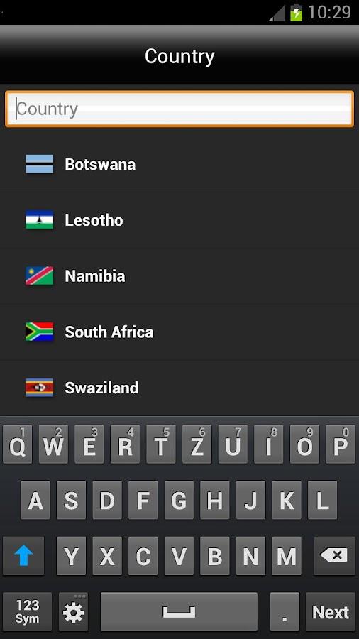 NAVIGON Southern Africa - 屏幕截图