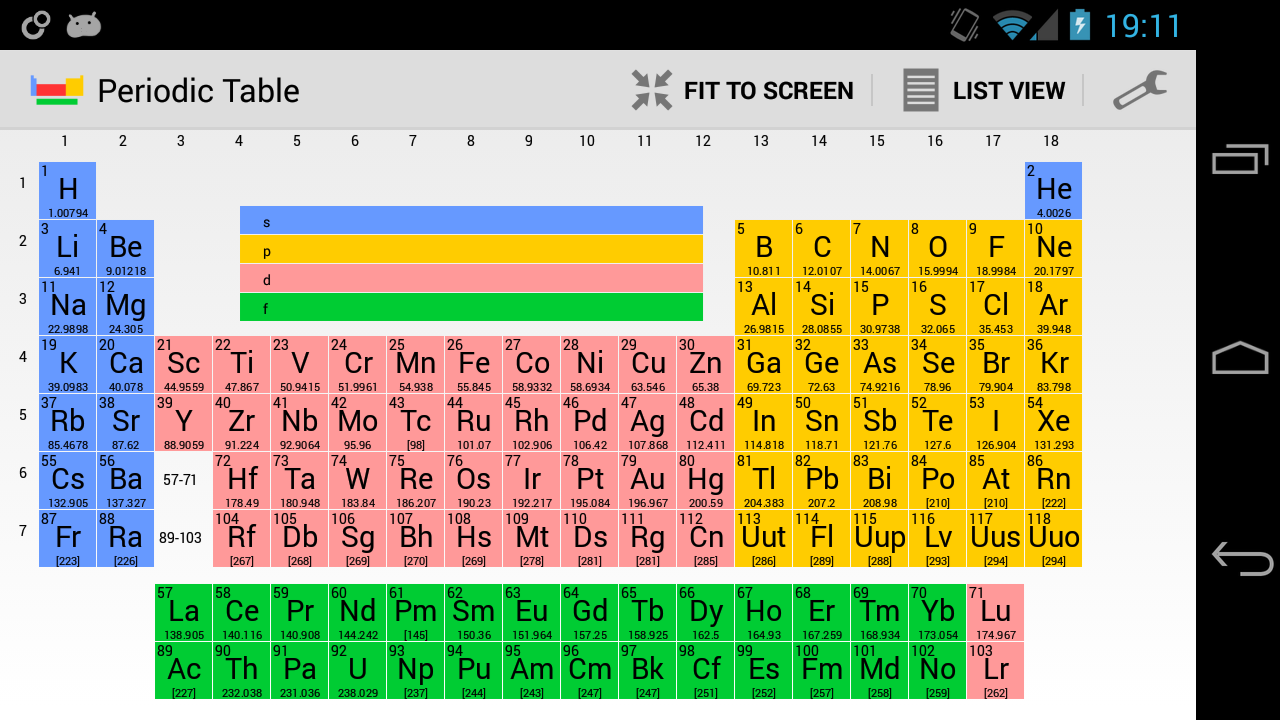 Periodic table search by name periodic diagrams science periodic table of elements pro android apps on google play gamestrikefo Choice Image