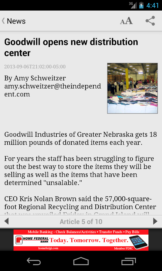 Grand Island Independent - screenshot